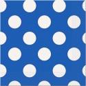 Салфетки Синие в белый горох