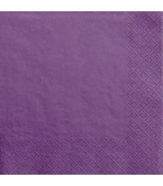 Серветки фіолетові 20 шт/уп