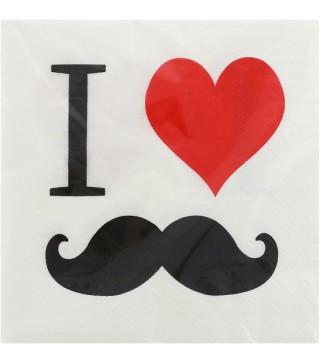 Серветки Я люблю вуса