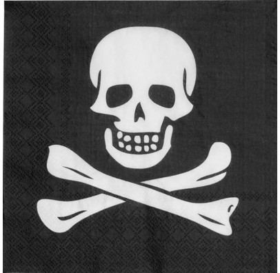 Салфетки Череп пирата
