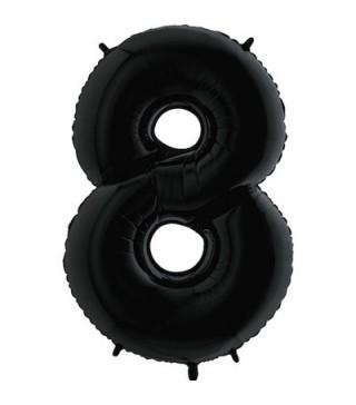 Шарик цифра 8 черная