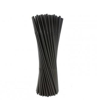 Трубочки черные 25 шт/уп