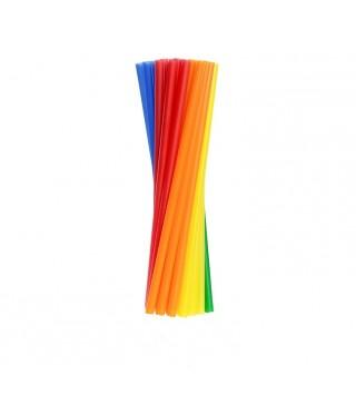 Трубочки фреш для коктейля разноцветные 25шт/уп