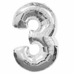 Кулька цифра 3 срібло...