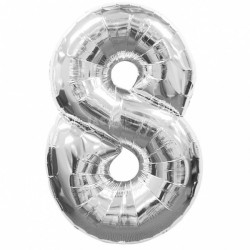 Кулька цифра 8 (86см) silver