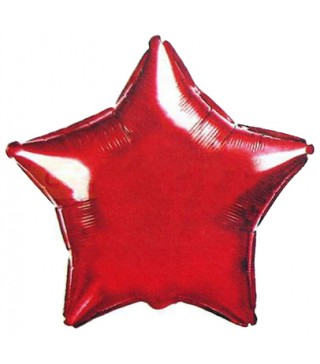 Кулька фольгована Зірка червона