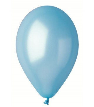 """Кульки Блакитні 10""""(26см) металік 100шт/уп"""