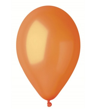 """Шарики оранжевые 10""""(26см) металлик 100шт/уп"""