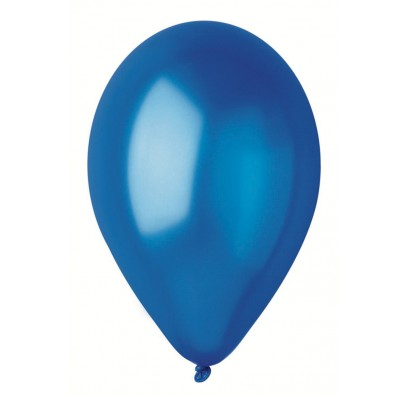 "Шарики синие 10""(26см) металлик 100шт/уп"