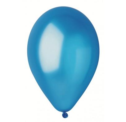 """Шарики светло-синие 10""""(26см) металлик 100шт/уп"""