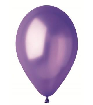 """Шарики фиолетовые 10""""(26см) металлик 100шт/уп"""