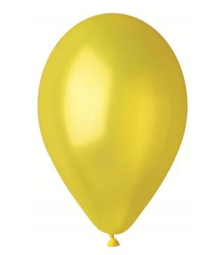 """Шарики желтые 10""""(26см) металлик 100шт/уп"""