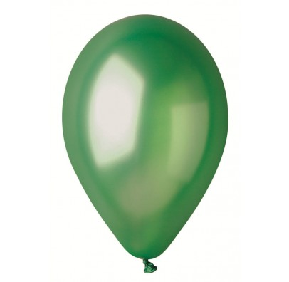"""Шарики зеленые 10""""(26см) металлик 100шт/уп"""
