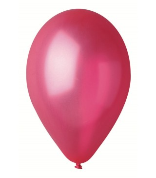 """Кульки червоні 10""""(26см) металік 100шт/уп"""