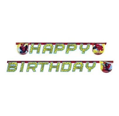 Гірлянда Happy Birthday Спайдермен ультимат