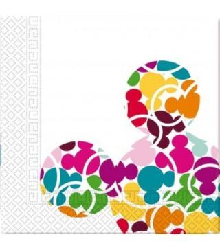 Серветки Міккі кольорові кульки