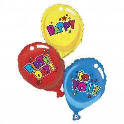 Шарик фольгированный Три шарики