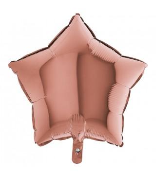 Кулька фольгована Зірка рожеве золото