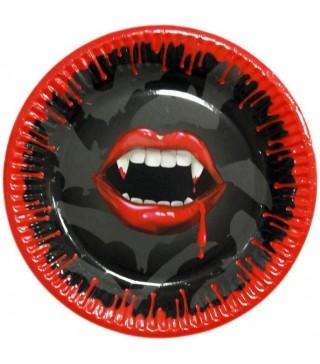 Тарілки Ікла вампіра 6шт/уп