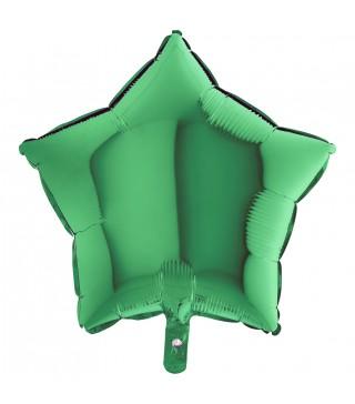 Кулька фольгована Зірка зелена