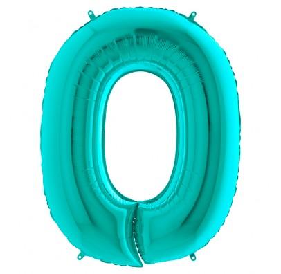 Кулька-цифра 0 бірюза