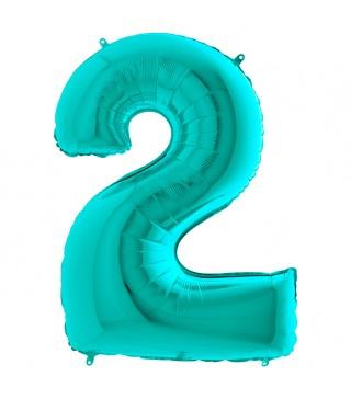 Кулька-цифра 2 бірюза