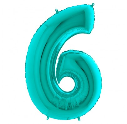 Кулька-цифра 6 бірюза
