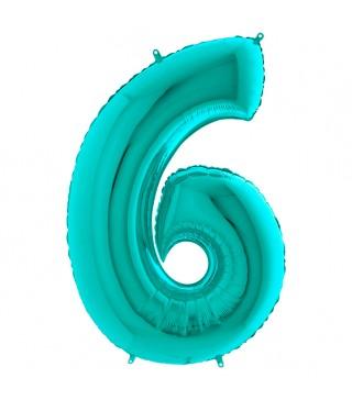 Шарик-цифра 6 бирюза