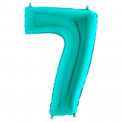 Кулька-цифра 7 бірюза