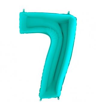Шарик-цифра 7 бирюза