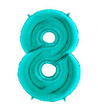 Шарик-цифра 8 бирюза