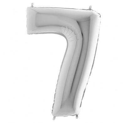 Шарик-цифра 7 серебро