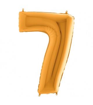 Шарик-цифра 7 золото