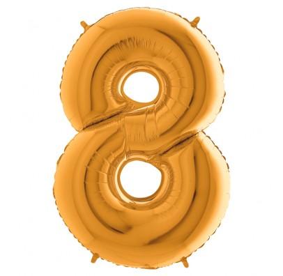 Шарик-цифра 8 золото