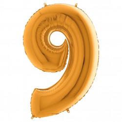 Кулька-цифра 9 золото