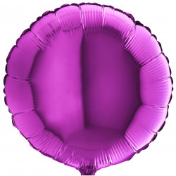 Кулька фольгована Кругла фіолетова