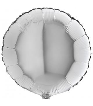 Кулька фольгована Кругла срібна
