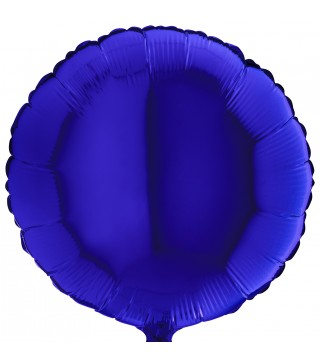 Шарик фольгированный Круглый синий