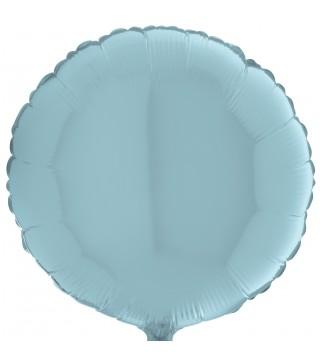 Кулька фольгована Кругла блакитна пастель