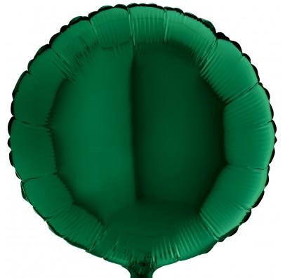 Шарик фольгированный Круглый зеленый