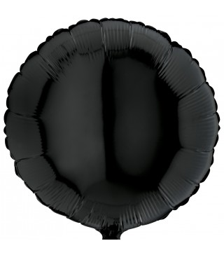 Кулька фольгована Кругла чорна