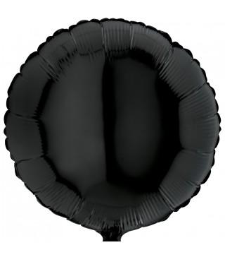 Шарик фольгированный Круглый черный