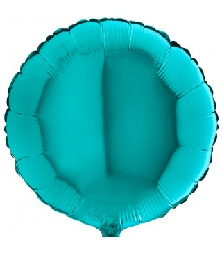 Кулька фольгована Кругла бірюзова