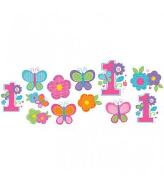Декоративные фигурки 1-st Birthday girl 12шт/уп