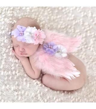 Крила Ангела з повязкою рожеві
