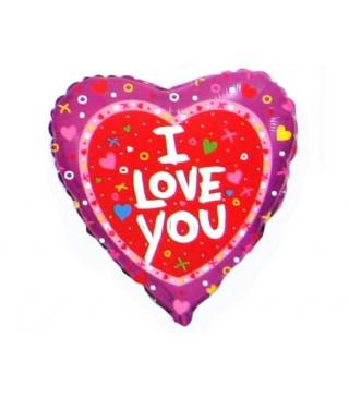 Кулька повітряна Серце I Love You