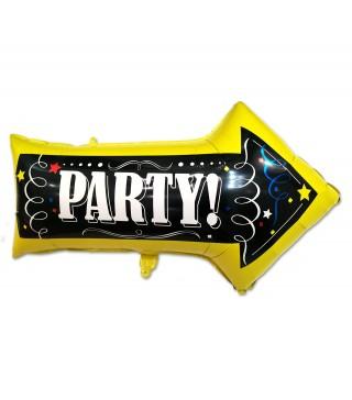 Кулька фольгована Вказівник Party