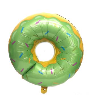 Шарик фольгированый фигурный Пончик салатовый
