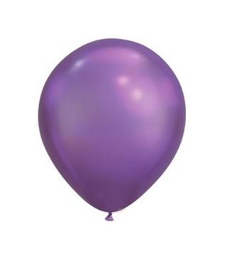 """Шарик фиолетовый 11 """"(28см) хром 1шт"""