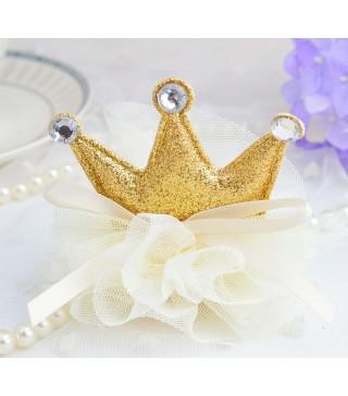 Заколка Корона на фатине
